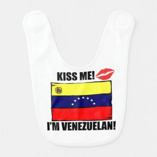 Bavoir Embrassez-moi que je suis vénézuélien