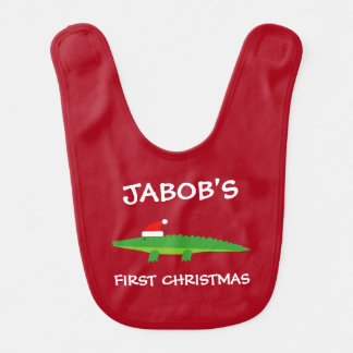 Bavoir Ęr crocodile de Père Noël de Noël du bébé