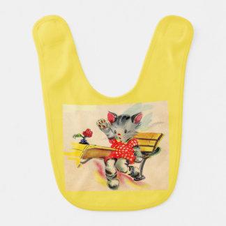 Bavoir étudiant de chat de chaton