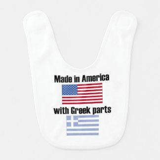Bavoir Fabriqué en Amérique avec les pièces grecques