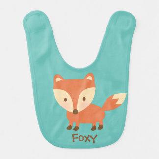 Bavoir Fox orange mignon de région boisée pour des bébés