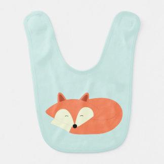 Bavoir Fox rouge somnolent
