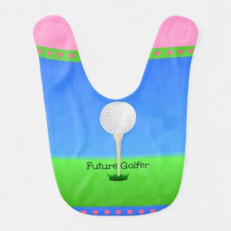 Bavoir Futur golfeur - fille