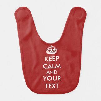 Bavoir Gardez le calme votre texte pour faire votre