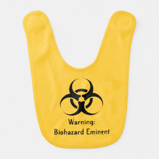 Bavoir Geek drôle de biohazard Stinky