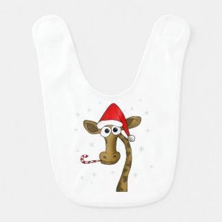 Bavoir Girafe de Noël