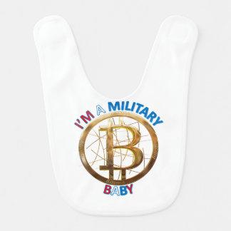 Bavoir Habillement militaire de bébé de Bitcoin