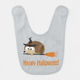 Bavoir Halloween heureux - sorcière de hérisson