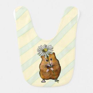 Bavoir Hamster avec une grande fleur de marguerite,