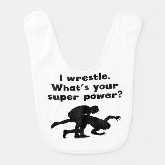 Bavoir Je lutte le super pouvoir