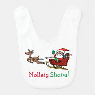 Bavoir Joyeux Noël irlandais Nollaig Shona
