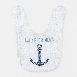Bavoir La famille nautique de la citation | est votre