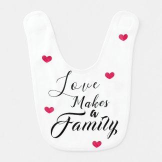 Bavoir L'amour fait une famille - adoption d'accueil