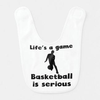 Bavoir Le basket-ball est sérieux