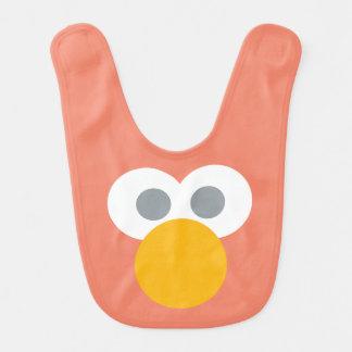 Bavoir Le bébé Elmo font face au motif de forme