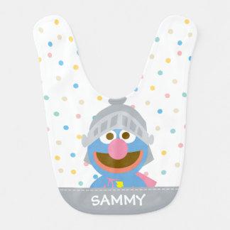 Bavoir Le bébé Grover dans l'armure   ajoutent votre nom