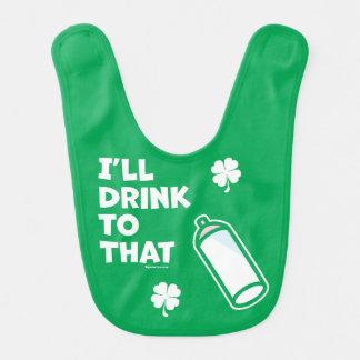 Bavoir Le jour | de St Patrick que je boirai à celui