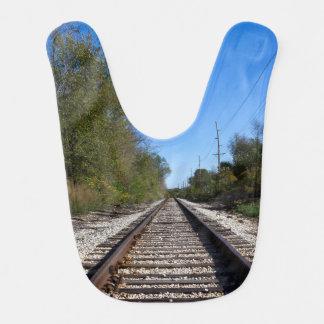 Bavoir Le train de chemin de fer dépiste la photo