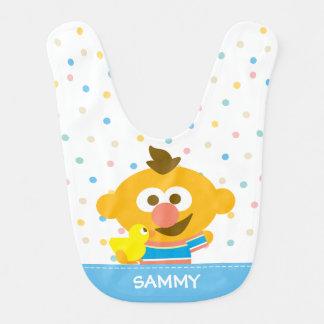 Bavoir Le visage et le Duckie   de bébé d'Ernie ajoutent