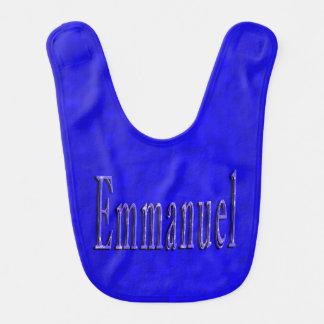 Bavoir Logo nommé d'Emmanuel, bébés bleus