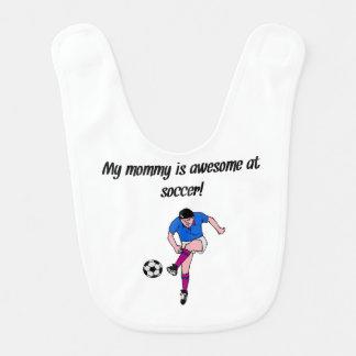 Bavoir Ma maman est impressionnante au football