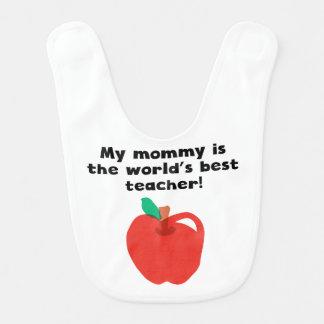 Bavoir Ma maman est le meilleur professeur du mot