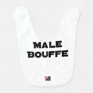 Bavoir MÂLE BOUFFE - Jeux de mots - Francois Ville