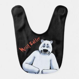 Bavoir malpropre de bébé d'ours blanc d'Eatter