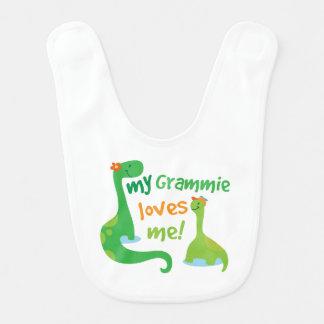 Bavoir Mon Grammie m'aime dinosaure