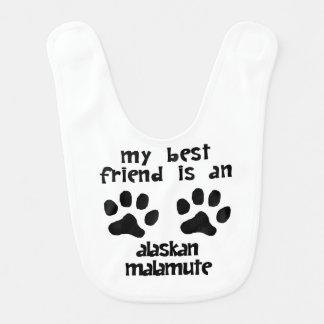 Bavoir Mon meilleur ami est un Malamute d'Alaska