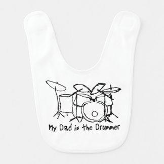 Bavoir Mon papa est le batteur