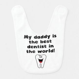 Bavoir Mon papa est le meilleur dentiste au monde