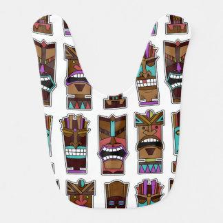 Bavoir Motif de masque de Tiki