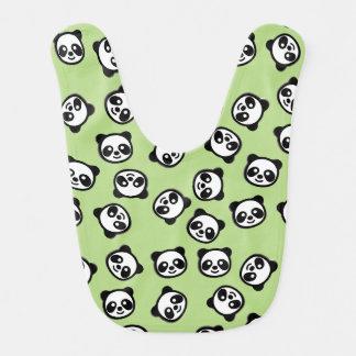 Bavoir Motif noir et blanc de bande dessinée de panda