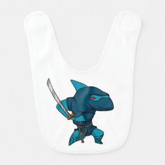 Bavoir Ninja de requin