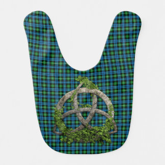 Bavoir Noeud de trinité et tartan celtiques de Lamont de