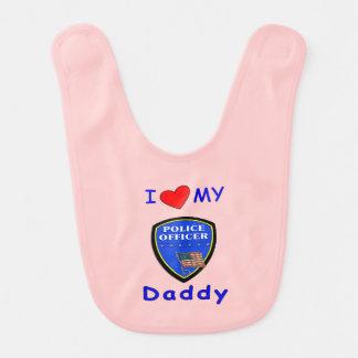 Bavoir Papa de police