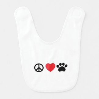 Bavoir Patte d'amour de paix