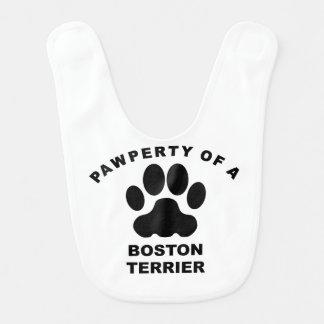 Bavoir Pawperty de Boston Terrier