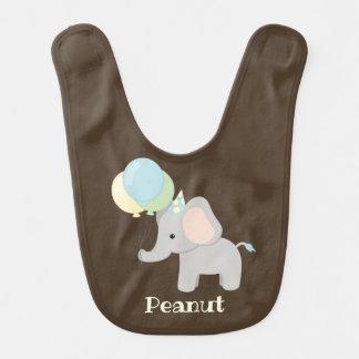 Bavoir personnalisé d'éléphant de bébé