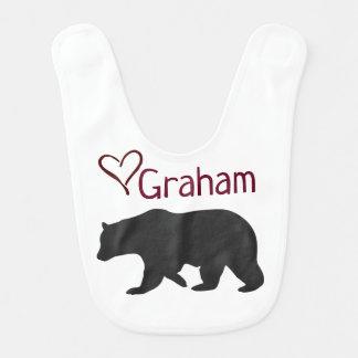 bavoir personnalisé d'ours