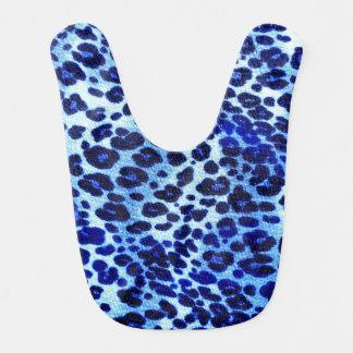 Bavoir Poster de animal bleu abstrait de guépard de