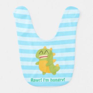 Bavoir Rawr ! Dinosaure mignon drôle pour le bébé