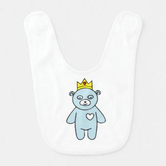 Bavoir Roi d'ours de nounours
