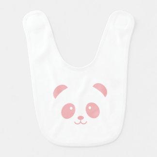 Bavoir rose mignon et câlin de bébé de panda