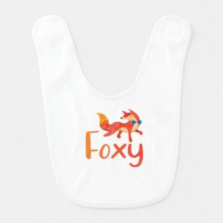 Bavoir Rusé élégant avec le Fox illustré pour le bébé