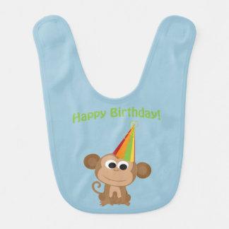 Bavoir Singe de joyeux anniversaire