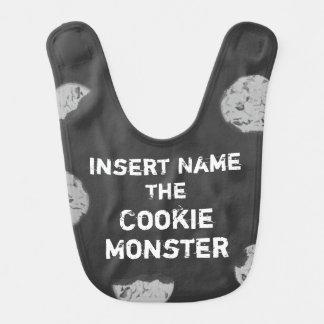 Bavoir Tableau personnalisable de monstre de biscuit
