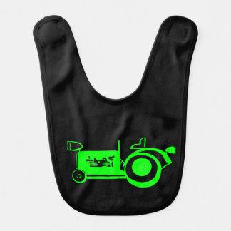 Bavoir Tracteur vert clair vintage adorable