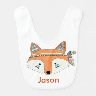 Bavoir tribal de bébé personnalisé par Boho de Fox